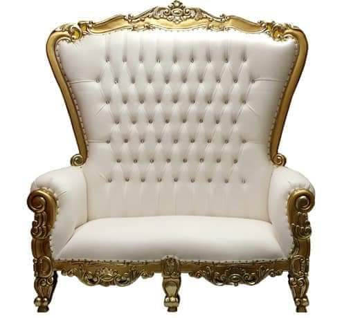 """King"" Gold & White Love Throne"