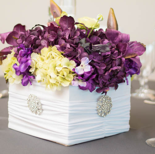 Rental Box Low Floral (silk) Centerpiece (variety of colors Rental $65.00 each