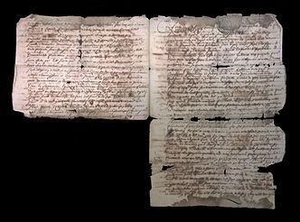 Manuscrit de 1680 avant restauration
