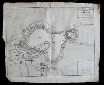 Carte d'Arras 1710 avant restauration