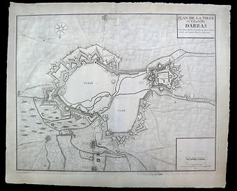 Carte d'Arras 1710 restaurée