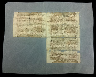 Manuscrit de 1680 après doublage de restauration