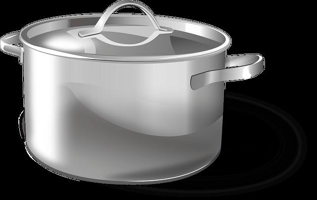 סיר נירוסטה על גז בישול