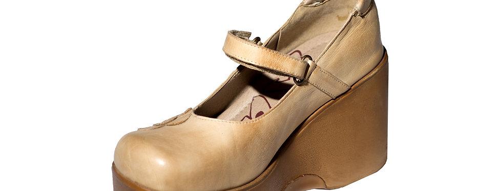 3355 נעלי ברונקס עור אבן פרח