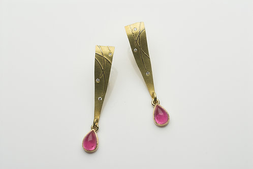 Grass earrings