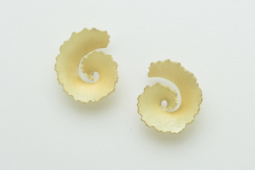 Ripped Scroll Earrings