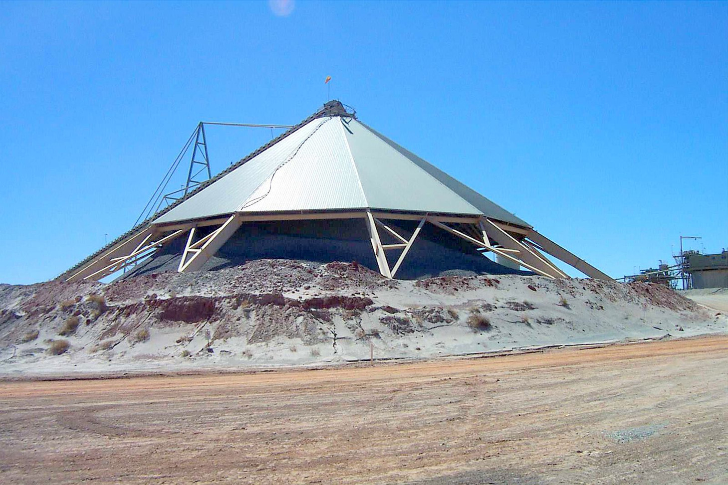 Completed stockpile cover