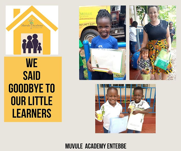 We said goodbey to our little learners (