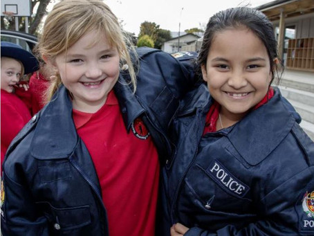 Christchurch school children treated to Police visit