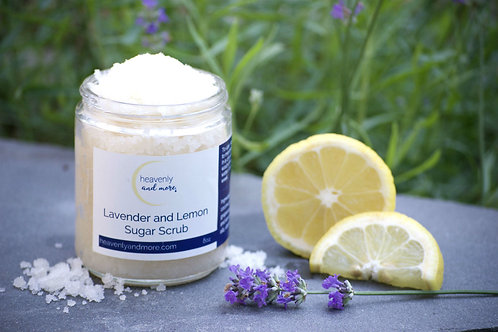Lemon and Lavender Sugar Scrub