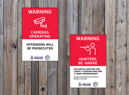 New rural crime prevention signs proving popular