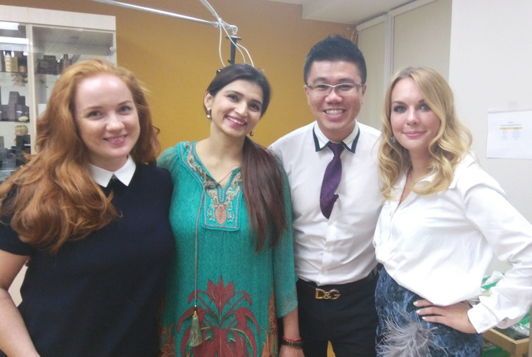 Dr Cheok in Russia on a working visit