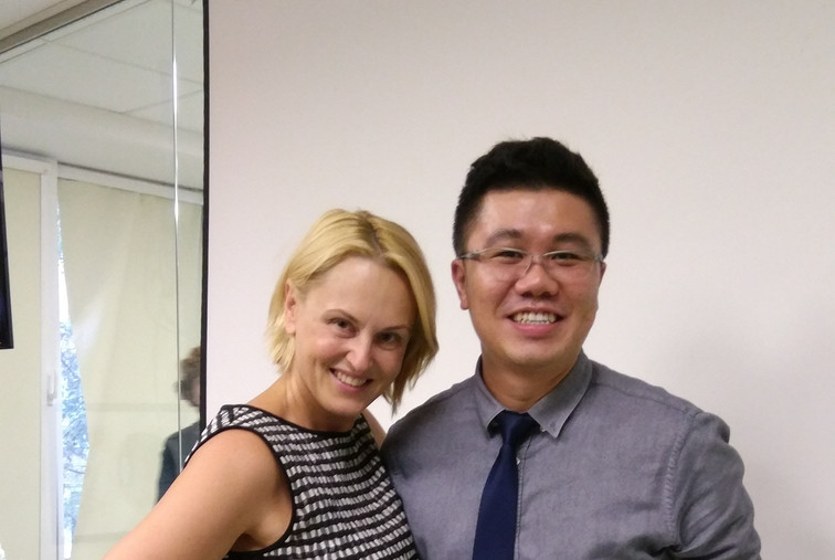 Dr Cheok with Dr Yana (Prominent professor in Russia)