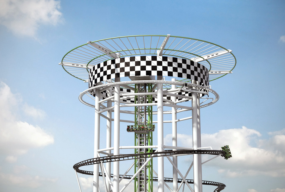 Polercoaster Concept - Without Observation Deck