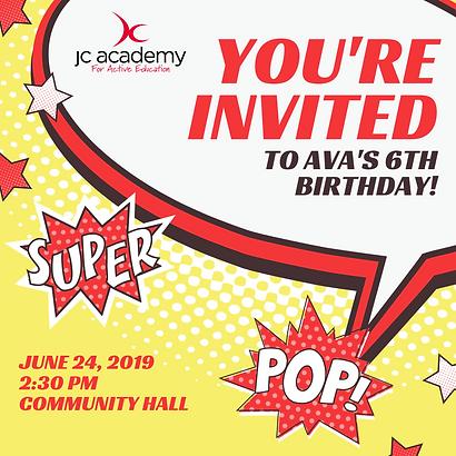 JC invite pop