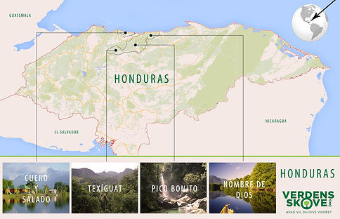 Influenced by Nature - Honduras map