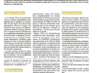 La spiruline : un super aliment - Conférence du Dr Jean DUPIRE