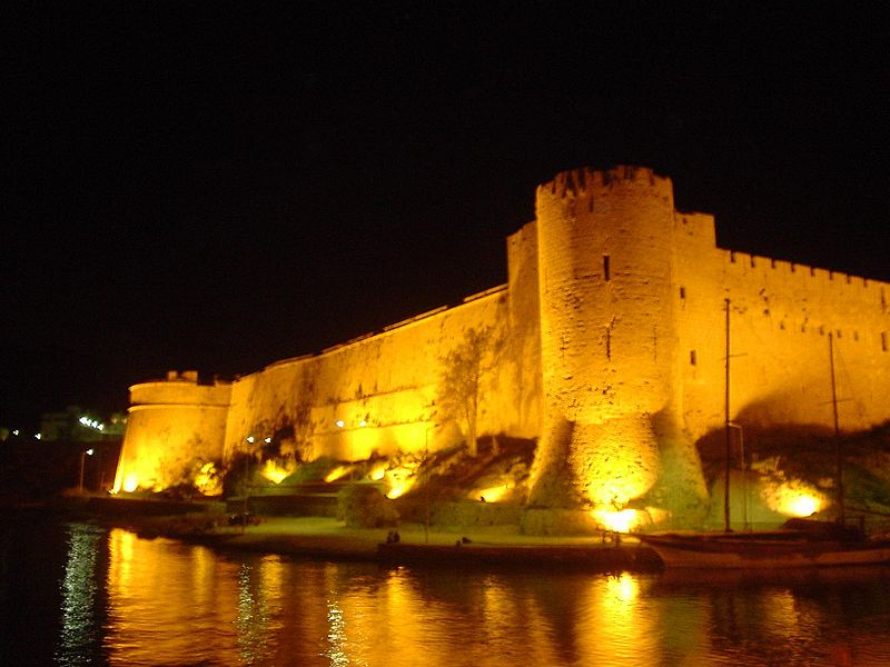 Kyrenia Castle by night