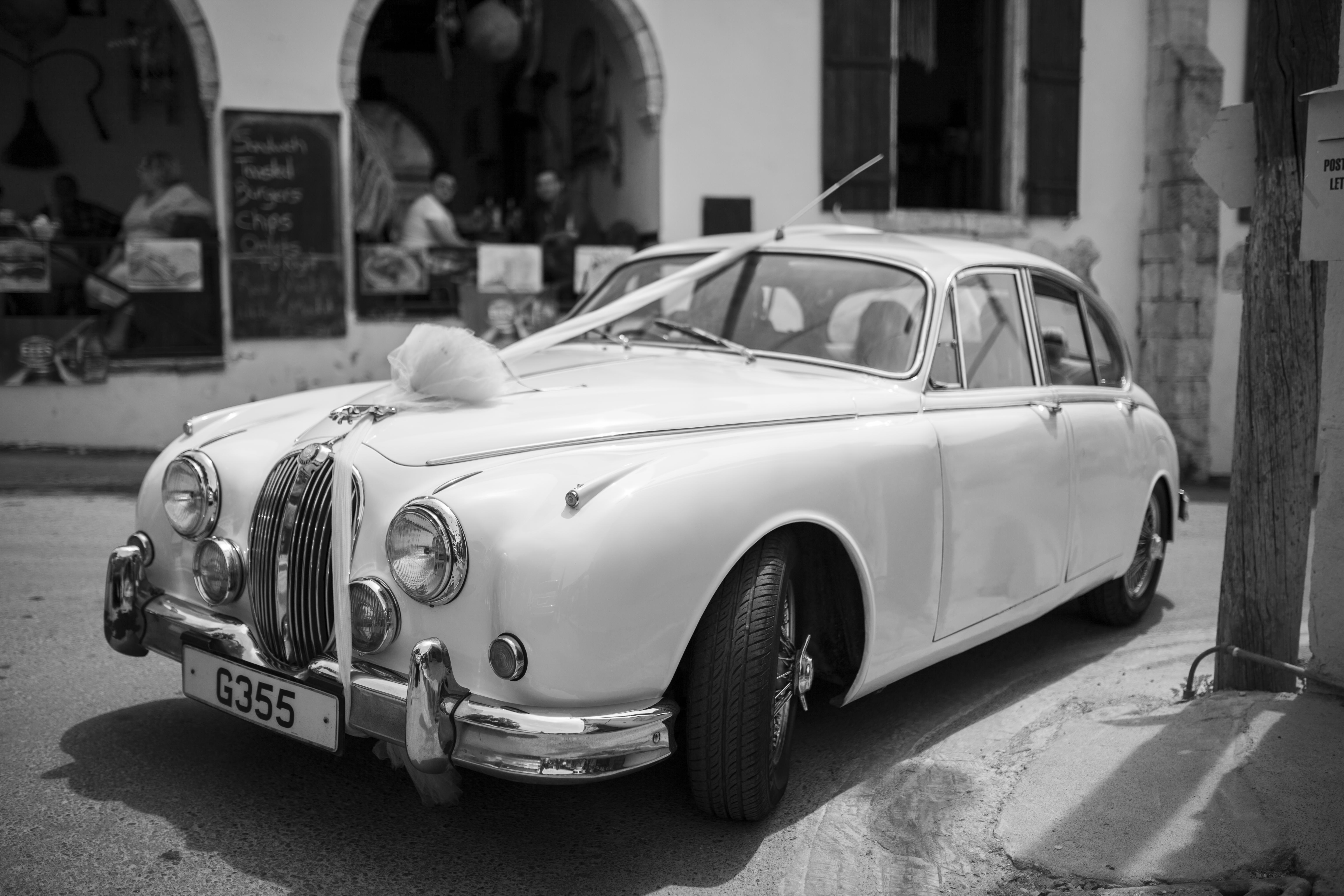 Classic Jaguar Wedding Car
