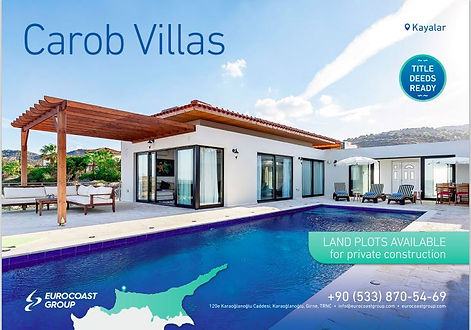 Carob Villas in Kayalar, Northern Cyprus