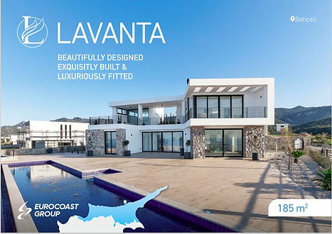 Lavanta sea front villas in Bahceli, Nor