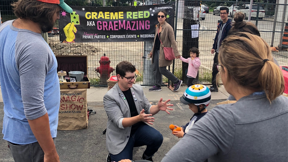 Graeme Reed magician at Locke St Market
