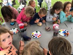 Children's rock painting