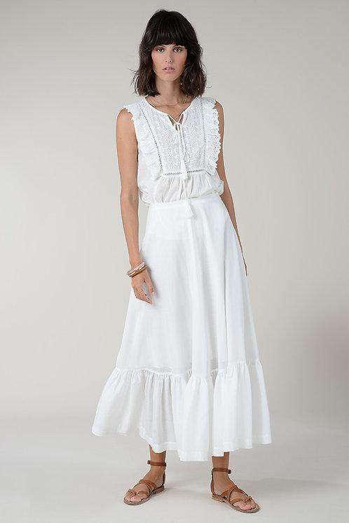 Falda Mery Blanca