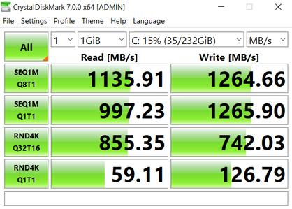 250 GB NVMe M.2 SSD