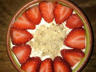 Strawberry cheesecake...gluten and sugar free