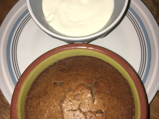 Sticky toffee pudding free from gluten and processed sugar!
