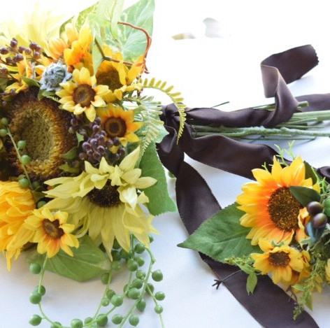 お花が初めてでもこんなにステキなウェディングブーケが出来ました
