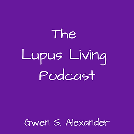 Logo in purple for the Lupus Living Podcast