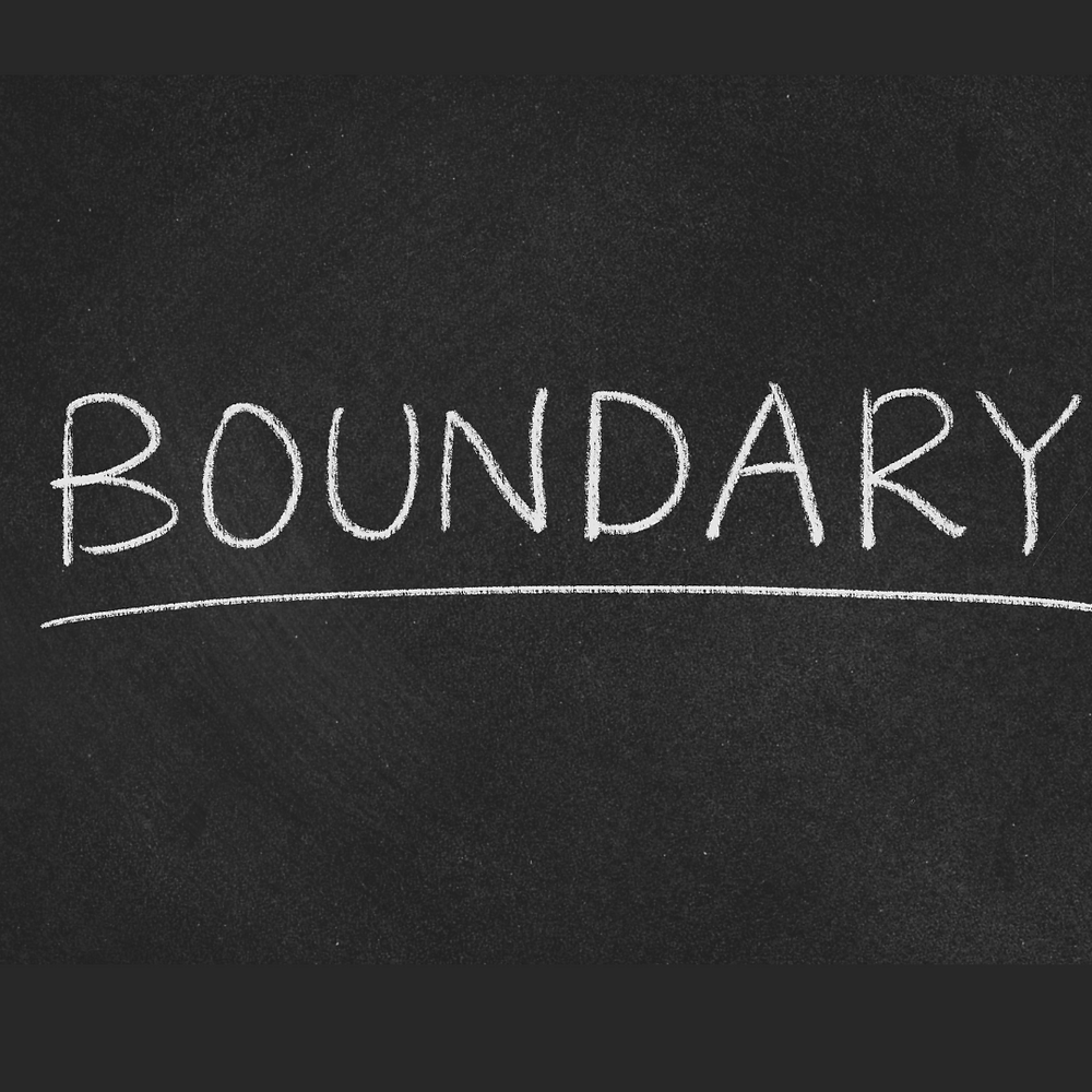 Picture of the Boundary written in chalk lettering.  The word Boundary is underlined