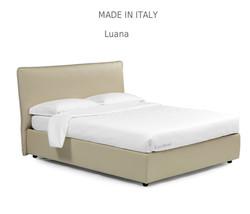 Luana :מיטה מרופדת לחדר השינה דגם