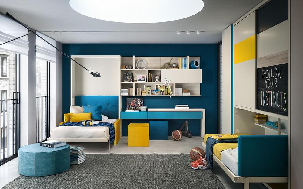 מיטות קיר מתקפלות וספות שנפתחות למיטה- אקסלנט רהיטים