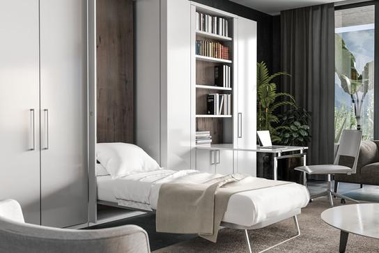 מיטת יחיד נפתחת מהקיר