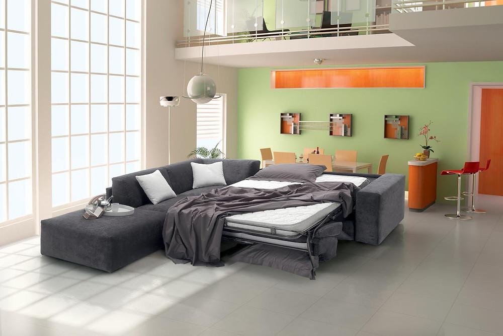 ספה רב תכליתית שנפתחת למיטה זוגית מפנקת