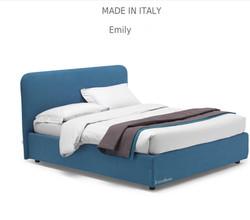 Emily :מיטה מרופדת לחדר השינה דגם