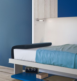 מיטת קומותיים נפתחת מהקיר
