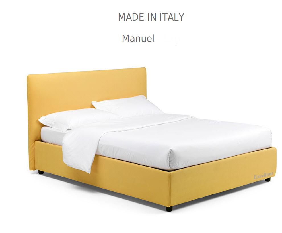 Manuel :מיטה מרופדת לחדר השינה דגם