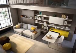 ספה איכותית עם מיטת קיר
