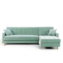 ספה מעוצבת עם מיטה מתקפלת