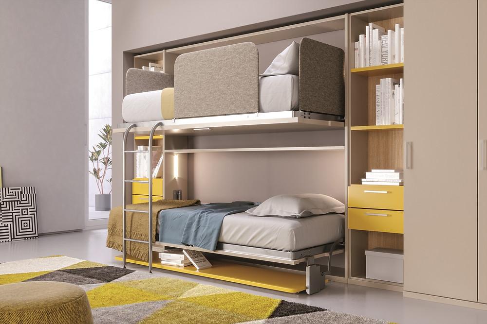 מיטת קומותיים מעוצבת ובטוחה לשימוש בחדר הילדים