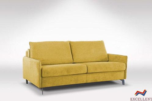 ספה נפתחת למיטה בצבע צהוב STAR