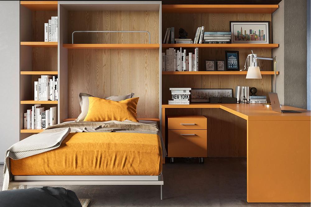 מיטת קיר תוצרת איטליה- אקסלנט רהיטים