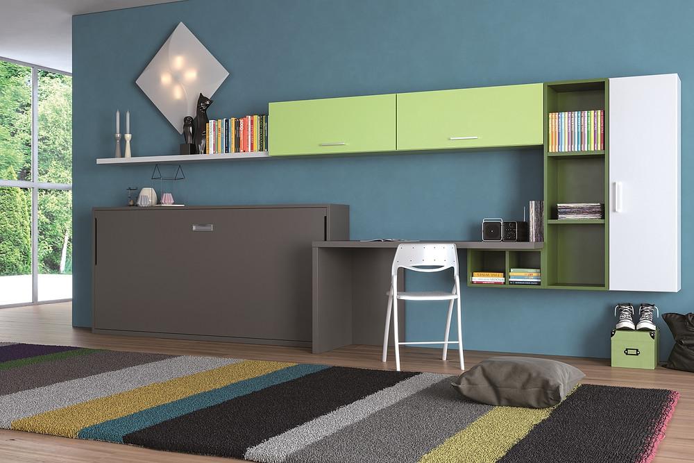 מיטת קיר נסתרת שמאפשרת להפוך את חדר הילדים גם לחדר משחקים
