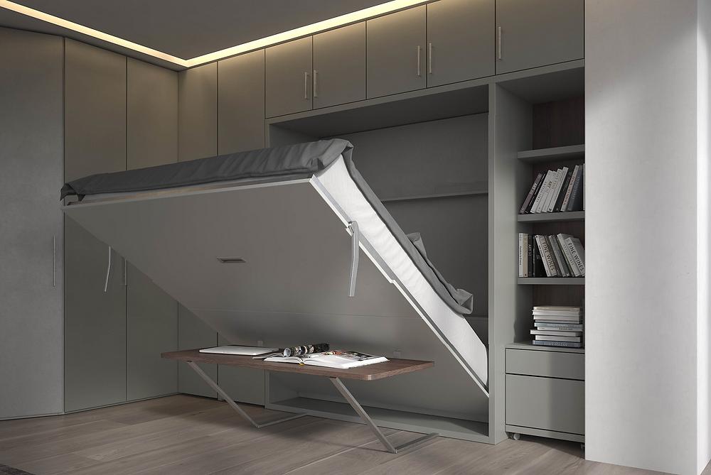 """מיטות הקיר מאפשרות ניצול של כל מ""""ר בחלל הבית"""