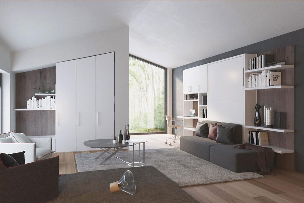 ריהוט חכם תוצרת איטליה-  מותאם לדירות סטודיו וחללים קטנים
