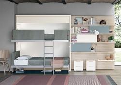 מיטת קומותיים מתקפלת לקיר